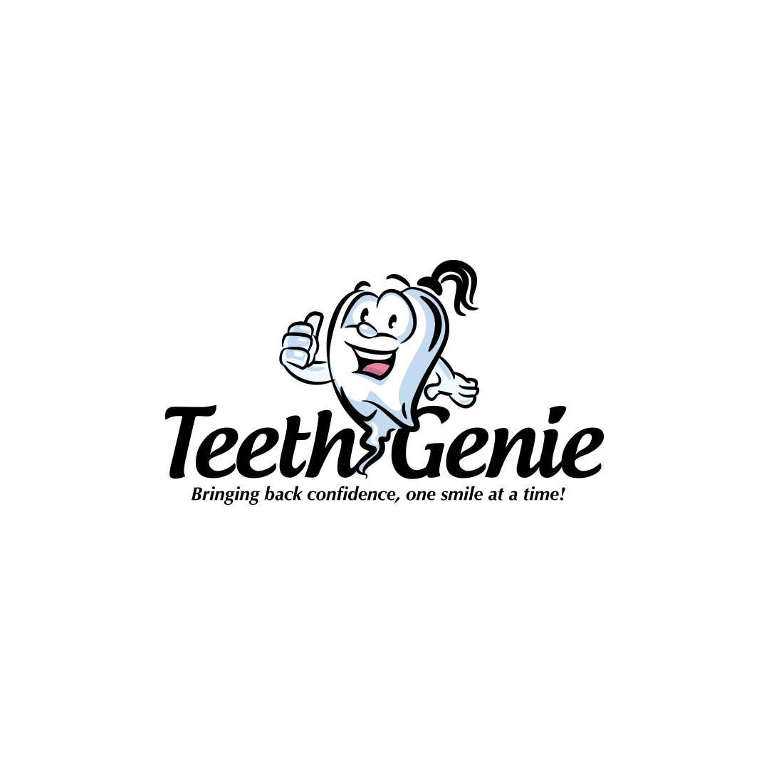 Mascot logo design done for a teeth whitening product