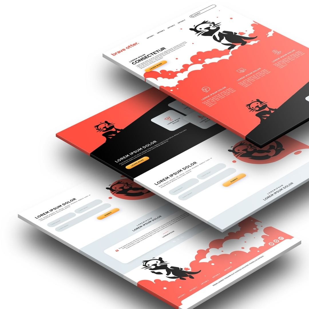 Logo and website content design done for a new e-commerce foundry