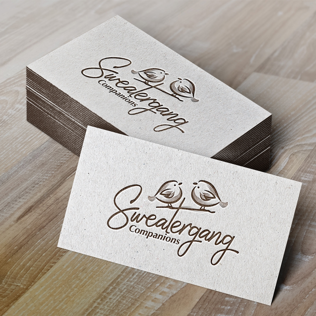 Logo and business card designs done for a senior care company