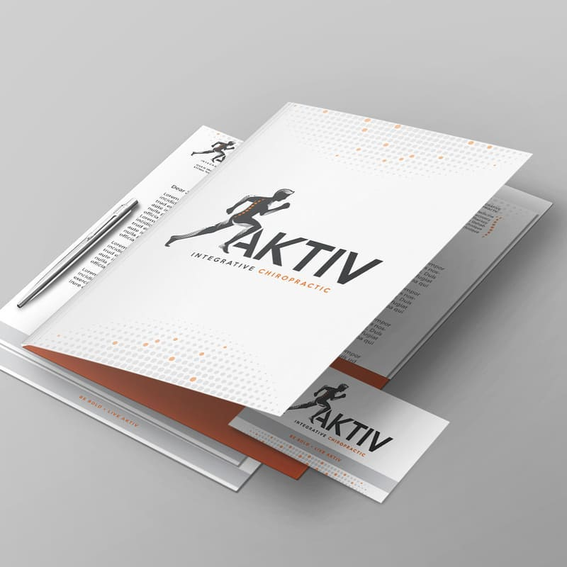 Logo and stationery designs done for a chiropractic center