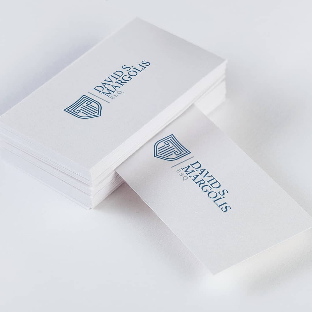 Logo and business card design done for a law firm