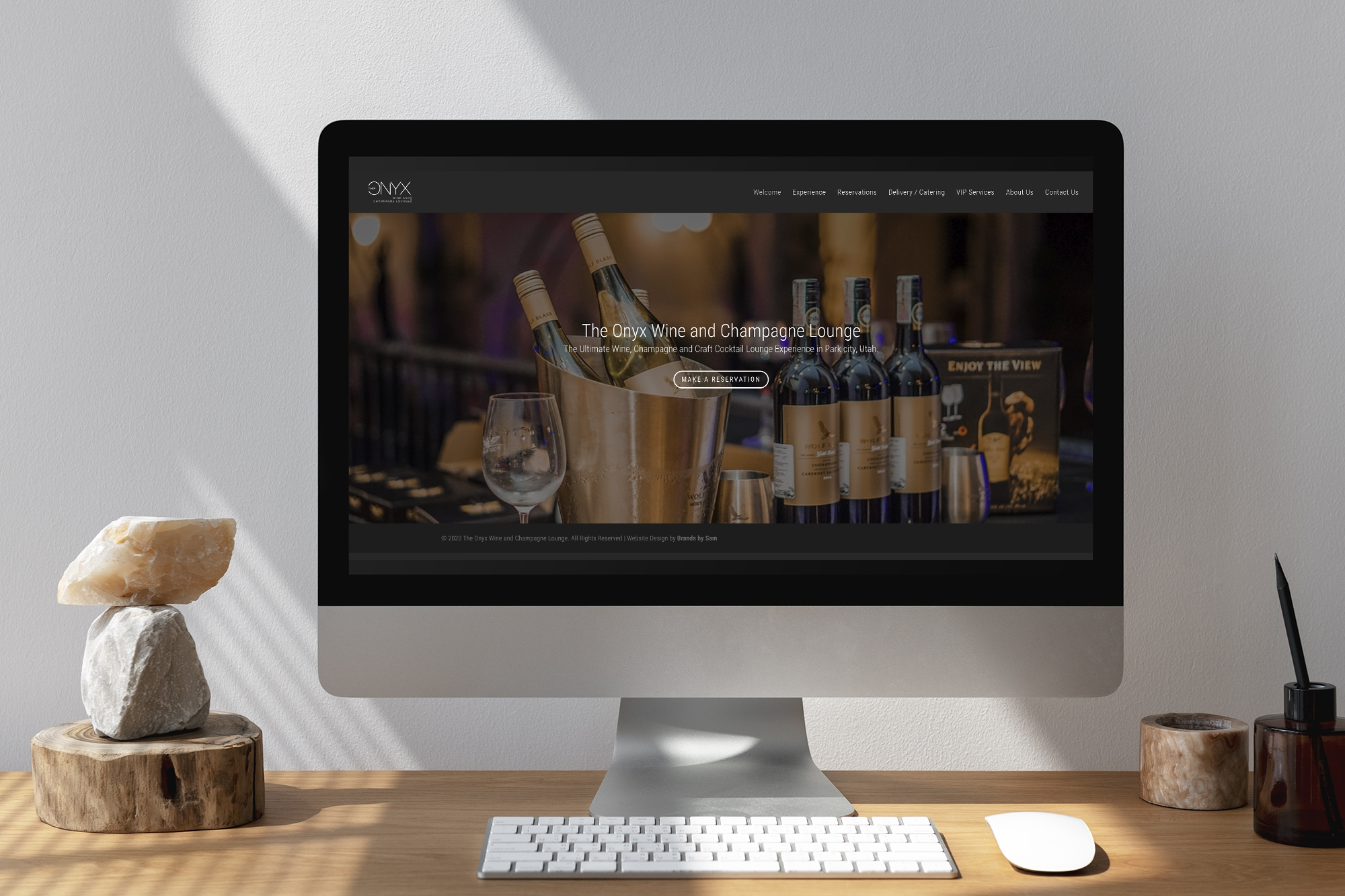 Logo and Website done for a wine and champagne lounge
