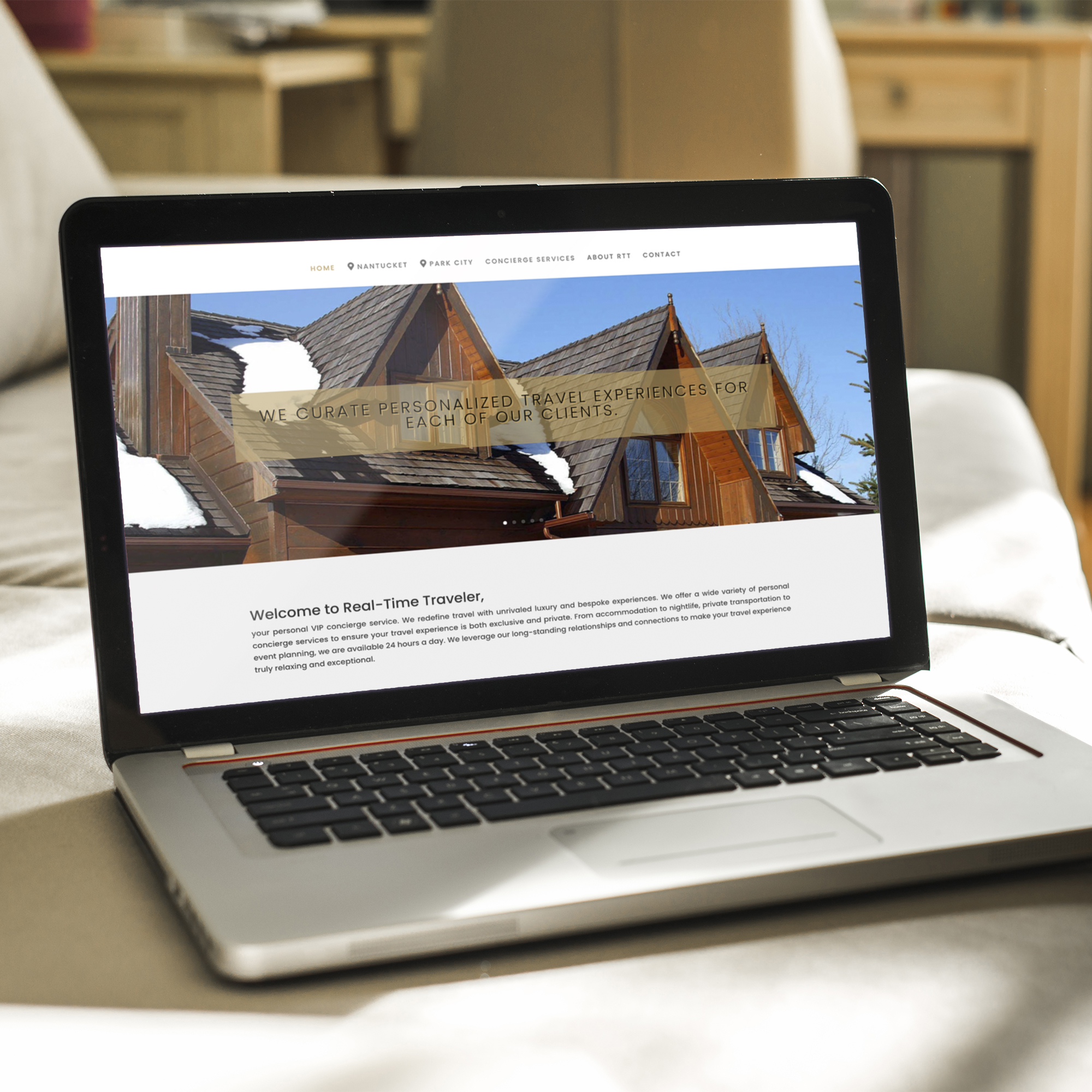 Logo and website design done for a concierge service