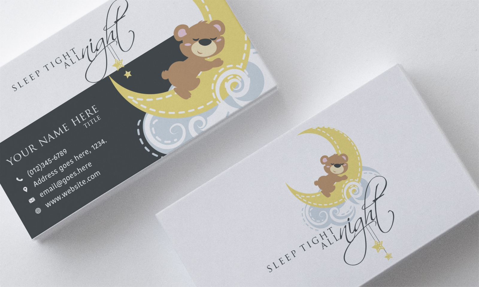 Logo and stationery designs done for a sleep consultant for babies/toddlers