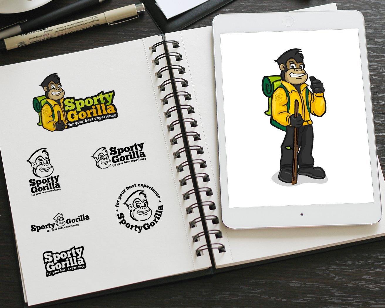 Logo and mascot design done for a hiking gear brand